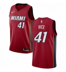 Mens Nike Miami Heat 41 Glen Rice Authentic Red NBA Jersey Statement Edition