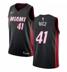 Mens Nike Miami Heat 41 Glen Rice Swingman Black Road NBA Jersey Icon Edition