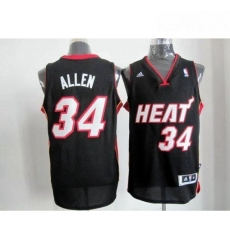 Revolution 30 Heat 34 Ray Allen Black Stitched NBA Jersey