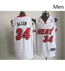 Revolution 30 Heat 34 Ray Allen White Stitched NBA Jersey