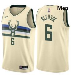 Bucks 6 Eric Bledsoe Cream Basketball Swingman City Edition 2019 20 Jersey