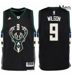 Milwaukee Bucks 9 D J Wilson Alternate Black New Swingman Stitched NBA Jersey