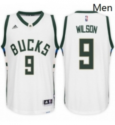 Milwaukee Bucks 9 D J Wilson Home White New Swingman Stitched NBA Jersey