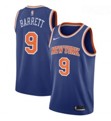 Knicks 9 R J  Barrett Royal 2019 NBA Draft First Round Pick Nike Swingman Jersey