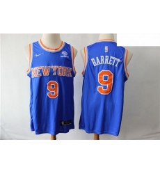 Knicks 9 R J  Barrett Royal Nike Swingman Jersey
