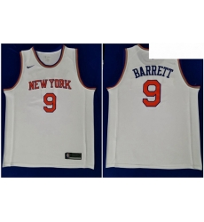 Knicks 9 R J  Barrett White 2019 NBA Draft First Round Pick Nike Swingman Jersey