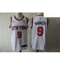 Knicks 9 R J  Barrett White City Edition Nike Swingman Jersey