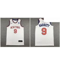 Knicks 9 R J  Barrett White Nike Authentic Jersey