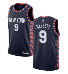 Knicks  9 R.J. Barrett Navy Basketball Swingman City Edition 2019 20 Jersey