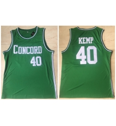 Men Concord Academy 40 Shawn Kemp Green High School Basketball Jersey