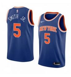 Men Knicks 5 Dennis Smith Jr. Swingman Blue Edition Jersey