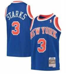 Men New York Knicks 3 Starks M&N Jersey