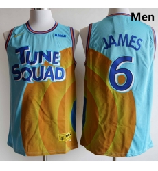 Men Tune Squad Lebron James 6 Space Jam Basketball Jersey
