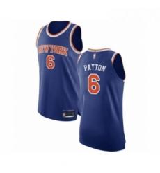 Mens New York Knicks 6 Elfrid Payton Authentic Royal Blue Basketball Jersey Icon Editi