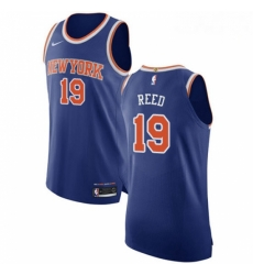 Mens Nike New York Knicks 19 Willis Reed Authentic Royal Blue NBA Jersey Icon Edition