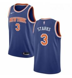 Mens Nike New York Knicks 3 John Starks Swingman Royal Blue NBA Jersey Icon Edition