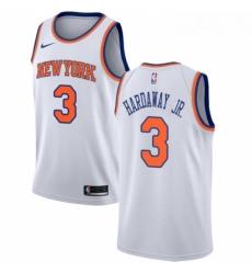 Mens Nike New York Knicks 3 Tim Hardaway Jr Authentic White NBA Jersey Association Edition