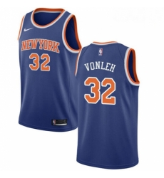 Mens Nike New York Knicks 32 Noah Vonleh Swingman Royal Blue NBA Jersey Icon Edition