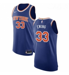 Mens Nike New York Knicks 33 Patrick Ewing Authentic Royal Blue NBA Jersey Icon Edition
