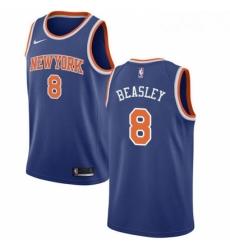 Mens Nike New York Knicks 8 Michael Beasley Swingman Royal Blue NBA Jersey Icon Edition