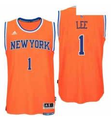New York Knicks 1 Courtney Lee Alternate Orange New Swingman Jersey