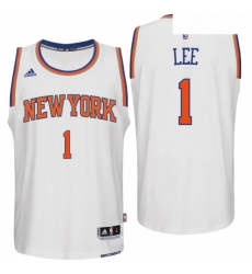 New York Knicks 1 Courtney Lee Home White New Swingman Jersey