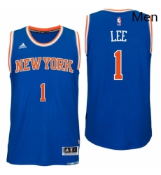 New York Knicks 1 Courtney Lee Road Blue New Swingman Jersey