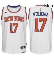 New York Knicks 17 Frank Ntilikina Home White New Swingman Stitched NBA Jersey