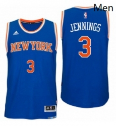 New York Knicks 3 Brandon Jennings 2016 Road Blue New Swingman Jersey