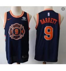 New York Knicks 9 R.J. Barrett Navy City Edition  Jersey
