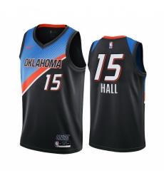 Men Nike Oklahoma City Thunder 15 Josh Hall Black NBA Swingman 2020 21 City Edition Jersey