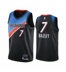 Men Nike Oklahoma City Thunder 7 Darius Bazley Black NBA Swingman 2020 21 City Edition Jersey