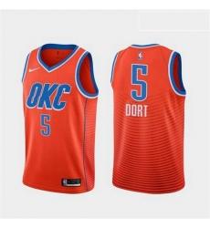 Men Nike Thunders 5 Luguentz Dort Orange City Edition Jersey