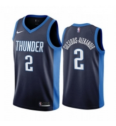 Men Oklahoma City Thunder 2 Shai Gilgeous Alexander Navy NBA Swingman 2020 21 Earned Editi