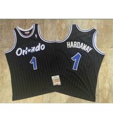 Magic 1 Anfernee Hardaway Black 1994 95 Hardwood Classics Jersey