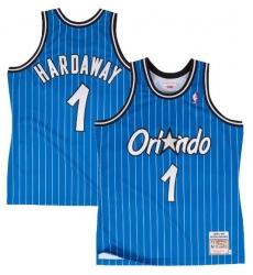 Men Nike Magic 1 Tim Hardway Blue Throwback NBA Prinstips Stitched Jersey