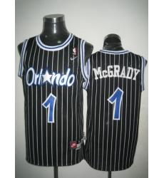 Men Nike NBA Orlando Magic 1 Tracy McGrady Black Throwback Swingman Jersey