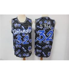 Men Orlando Magic 32 Shaquille O'Neal Black Tear Up Pack Hardwood Classics Swingman Jersey