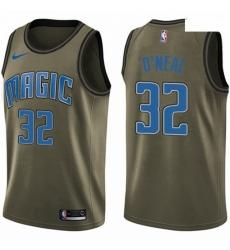 Mens Nike Orlando Magic 32 Shaquille ONeal Swingman Green Salute to Service NBA Jersey