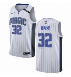 Mens Nike Orlando Magic 32 Shaquille ONeal Swingman NBA Jersey Association Edition