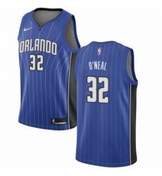 Mens Nike Orlando Magic 32 Shaquille ONeal Swingman Royal Blue Road NBA Jersey Icon Edition