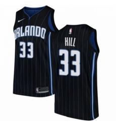 Mens Nike Orlando Magic 33 Grant Hill Swingman Black Alternate NBA Jersey Statement Edition
