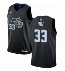 Mens Nike Orlando Magic 33 Grant Hill Swingman Black NBA Jersey City Edition