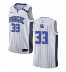 Mens Nike Orlando Magic 33 Grant Hill Swingman NBA Jersey Association Edition