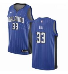 Mens Nike Orlando Magic 33 Grant Hill Swingman Royal Blue Road NBA Jersey Icon Edition