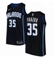 Mens Nike Orlando Magic 35 Melvin Frazier Authentic Black NBA Jersey Statement Edition