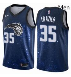 Mens Nike Orlando Magic 35 Melvin Frazier Swingman Blue NBA Jersey City Edition