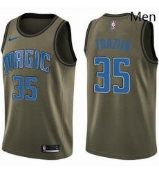 Mens Nike Orlando Magic 35 Melvin Frazier Swingman Green Salute to Service NBA Jersey