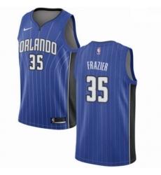 Mens Nike Orlando Magic 35 Melvin Frazier Swingman Royal Blue NBA Jersey Icon Edition