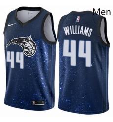 Mens Nike Orlando Magic 44 Jason Williams Swingman Blue NBA Jersey City Edition